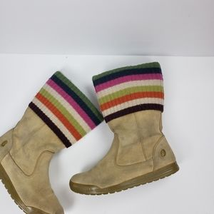 Coach Women's Tatum Boots Brown Multicolor  Stripe